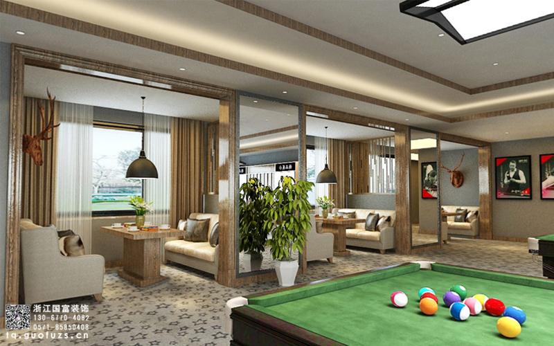 杭州台球室装修设计
